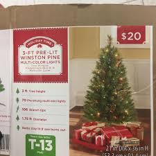 3 Foot Pre Lit Christmas Tree