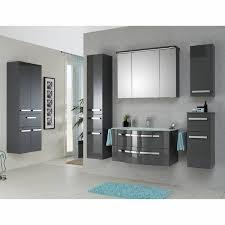 3 türiger badezimmer spiegelschrank fes 4005 66 korpus lack steingrau mit steckdose led kranz b h t 120 72 2 17cm