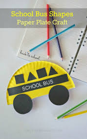 Back To School Crafts Paper Plate School Bus Shapes Craft Idea