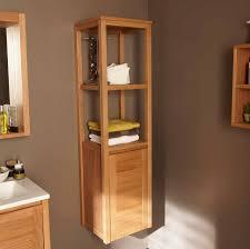 meuble de cuisine dans salle de bain colonne salle bains etageres en bois avec porte serviettes meuble