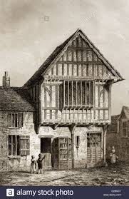100 Centuryhouse 15th Century House Leicester City Leicestershire England Stock