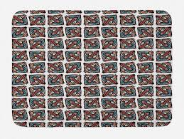 badematte plüsch badezimmer dekor matte mit rutschfester rückseite abakuhaus böhmische weinlese boho bloom squares kaufen otto