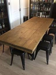 Rustic Industrial Extending Scaffold Board Plank Dining Table