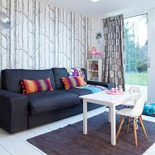 Taupe Living Room Ideas Uk by Living Room Wallpaper Ideal Home