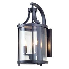dusk to outdoor wall lights lighting up exterior sconces