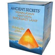 Himalayan Salt Lamp Pyramid by Ancient Secrets Lotus Brand Inc Himalayan Natural Rock Salt