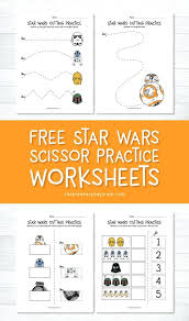 Star Wars Cutting Practice Worksheets For Early Learners Preschool Scissor Skills Download These Free Printable Activities