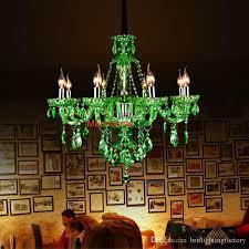 großhandel moderne wohnzimmer bar kristall kronleuchter europäischen grünen kristall kronleuchter kerzenle zimmer ktv hotel restaurant farbiges
