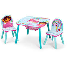 nickelodeon dora the explorer storage table and chairs set