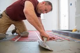 will electric radiant floor heat room water heating cost