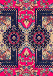 Seamless Vector Pattern With Ornamental Frame And Beautiful Rosettes Persian Turkish Damask