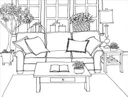 And In Color Easy Drawn Sofa Chair Drawing