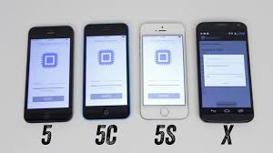 iPhone 5s vs iPhone 5c vs iPhone 5 vs Moto X Benchmark Test