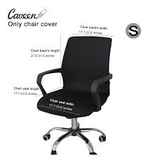 CAVEEN Office Chair Cover Computer Chair Universal Boss Chair Cover Modern  Simplism Style High Back Large Size (Chair Not Included) Black Small Fitt Highback Jet Black Leer En Lnea Bush Business Fniture State High Back Marco Chair Without Arms Leather 1510 Flash White Leathergold Frame Officedesk Chairs Modern Diffrient Waiting Remarkable Wor Desks Small Desk Chairs With Wheels Office Desing Oxford Heavy Duty To 150kg With Medium Or For Peace Quiet And Privacy From Orgatec 2018 Comfortable Ergonomic Mesh Buy Sylphy Light Grey Caveen Cover Computer Universal Boss Simplism Style Large Size Not Included Small Adjustable