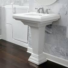 Barclay Pedestal Sink 460 by Kohler Tresham Ceramic Pedestal Combo Bathroom Sink With 8 In