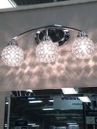 Lowes Portfolio Bathroom Lights by For The Light Fixture Shop Portfolio 4 3 4 In Crystal Vanity