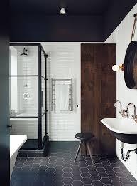 black and white hexagon bathroom tile hexagon tile bathroom floor