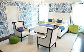 bedroom colors ideas blue and bright lime green interior