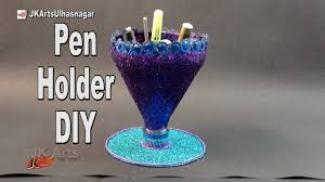 Art N Craft From Waste Unique Easy Pen Stand With Bottle And Dvd How To Make