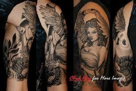 Half Sleeve Angel Tattoo For Men