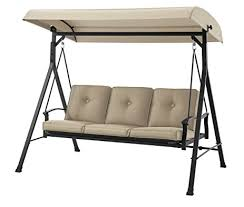 Mainstays Patio Furniture Manufacturer by Amazon Com Mainstays 3 Seat Porch U0026 Patio Swing Tan Garden