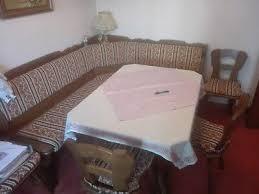 eckbank tisch und stühle dunkelbraun esszimmer