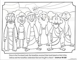12 Tribes Coloring Page