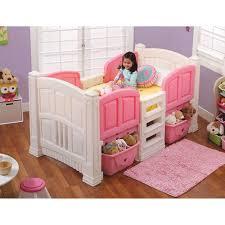 White Plastic Toddler Bed Step Girls Loft Storage Twin Bed Walmart
