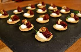 m and s canapes recipe vegetarian canapés beetroot sour walnut blinis