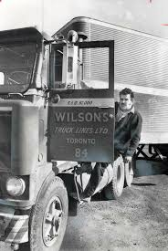 100 Wilson Trucking Company Climbing Into His Rig Truck Driver Frank Laviola Knows His Pay Has
