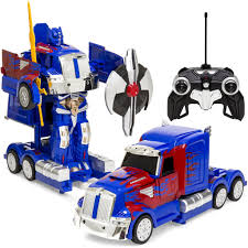 100 Truck Rc 27MHz Transforming Semi Robot RC Toy W Dance Modes Music