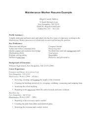 Maintenance Supervisor Sample Resume Facility Executive Apartment Samples
