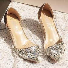 2018 Luxury Bling Sparkle High Quality Wedding Heel Wedding Shoes