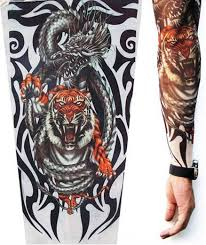 Chinese Tiger Tattoo Sleeve Fight Sleeves