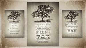 RUSTIC STRING LIGHTS TREE COUNTRY WEDDING INVITATION For Rustic Country Wedding Theme