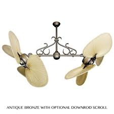 50 inch double twin star outdoor ceiling fan with bombay orb