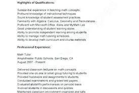 Sample Tutor Resume Math Example Teacher