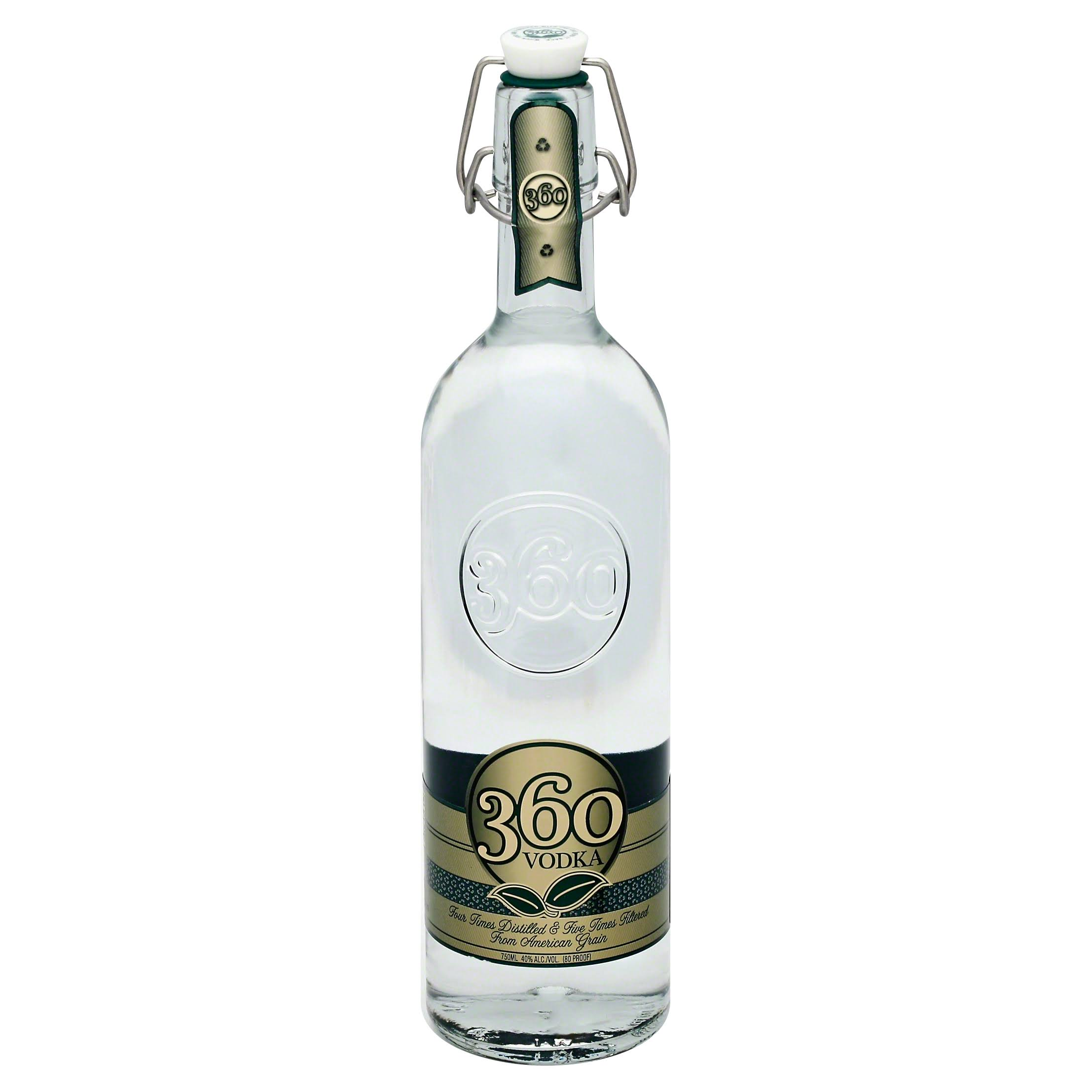 360 Vodka - 750ml, 12 Pack