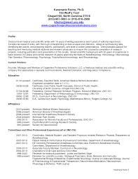 Cv Examples For Medical Writing 0