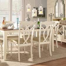 Shayne Country Antique White Beige Dining Chairs Set Of 2 By INSPIRE Q Classic