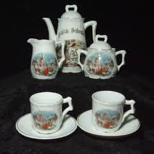 Spode Christmas Tree Village Cookie Jar by Antique Vintage Childs Dishes Tea Set Christmas Tree Santa Rendeer