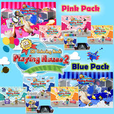 3D Coloring Book Playing House Pink Pack