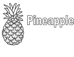 Learn To Read Pineapple Coloring Page