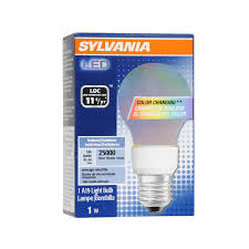 shop sylvania color changing led a19 specialty light bulb at lowes