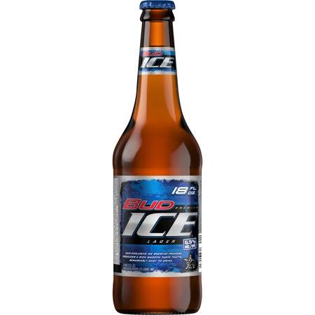 Bud Ice Lager Beer - 18oz