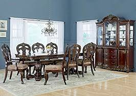 THE ROOMPLACE Marquis 7 Pc Dining Room Set With China Cabinet Plus Two Free Arm