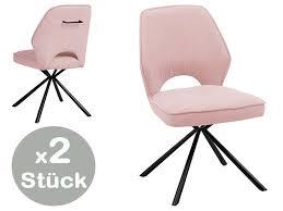 nele stuhl 2er set 180 drehbar rosa günstig möbel küchen büromöbel kaufen froschkönig24