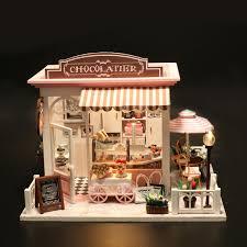 Merry Provence House Room DIY Dollhouse Kit With LED Light Wood