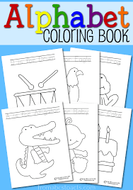 Learn The Letters Of Alphabet While You Color Perfect For Toddlers And Preschoolers
