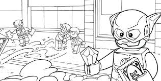 LEGO DC Super Hero Coloring Pages
